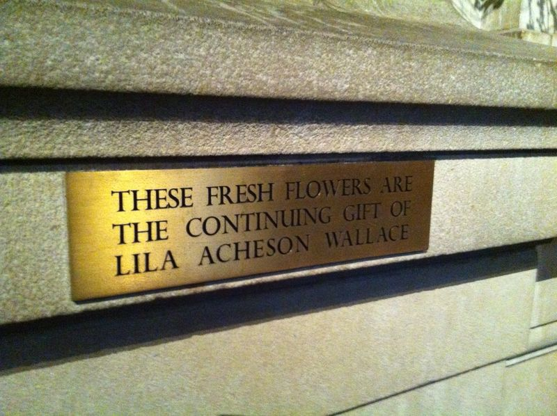 Lila Acheson Wallace flowers